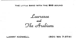 Lawrence and the arabians card